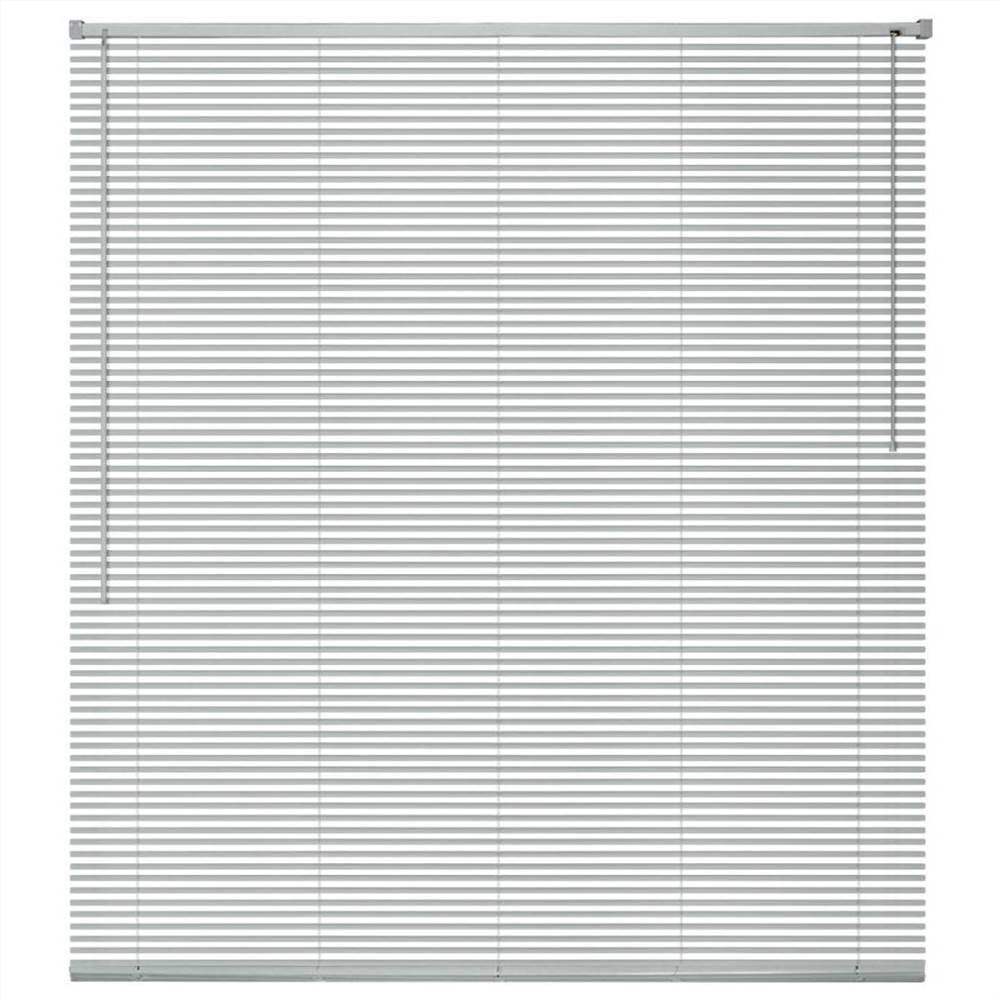 Window Blinds Aluminium 140x130 cm Silver