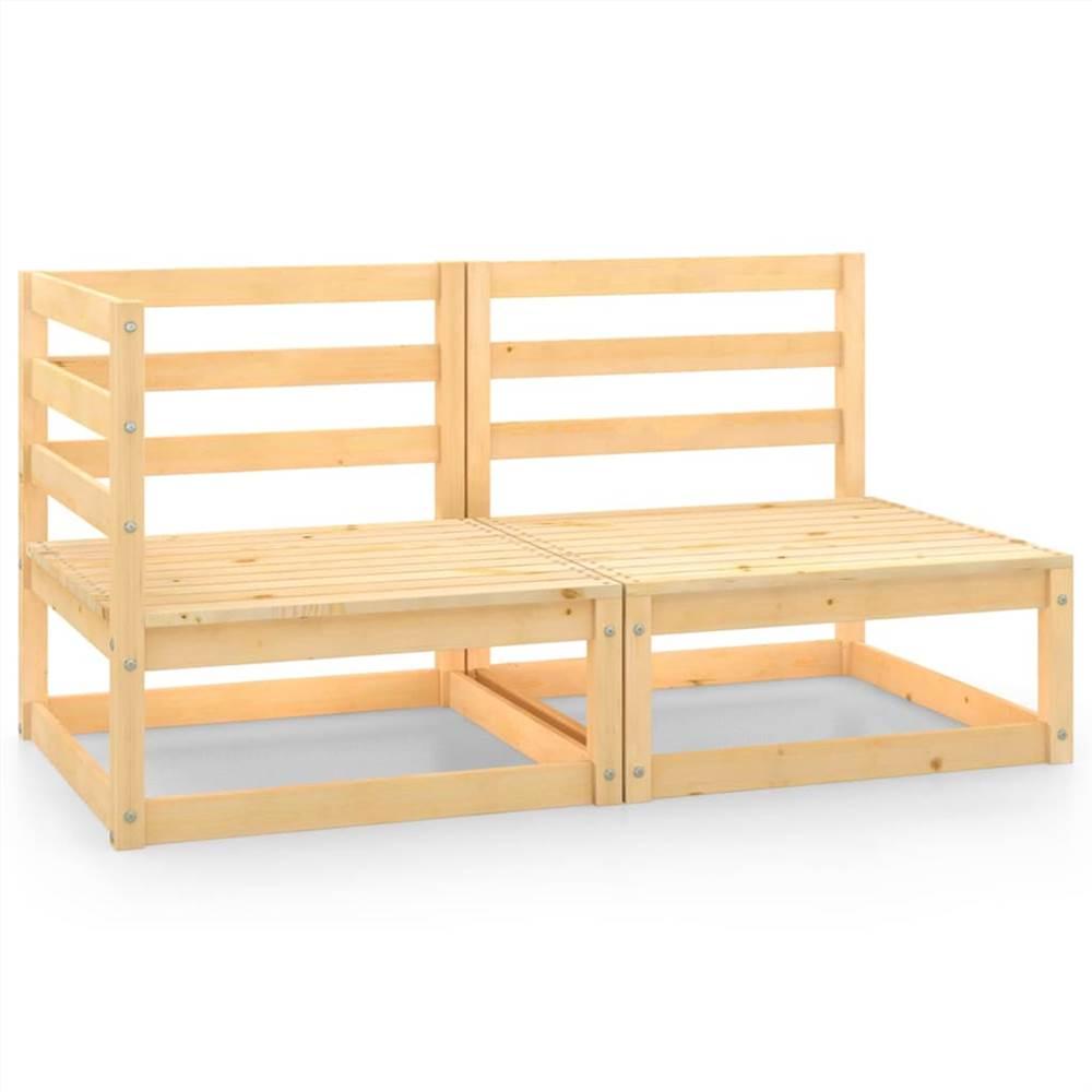 2 Piece Garden Lounge Set Solid Pinewood