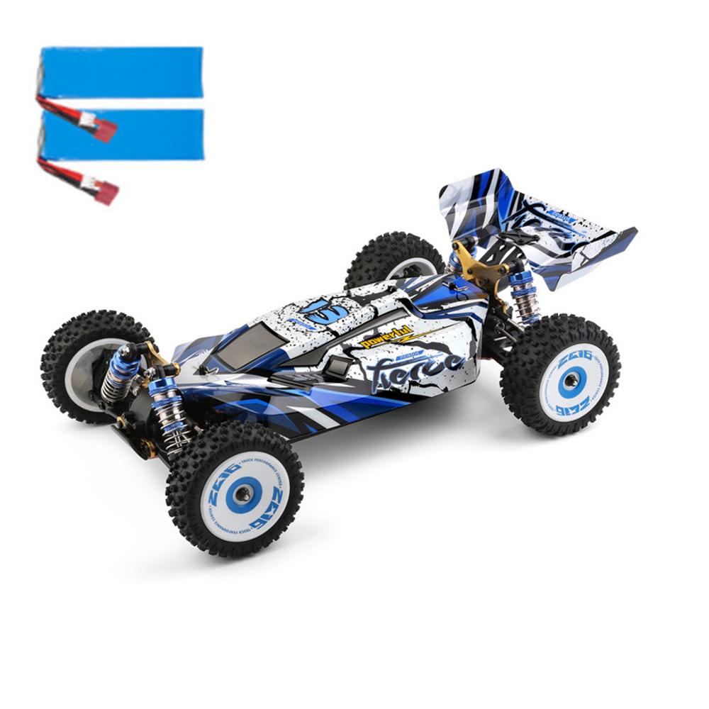 Wltoys 124017 1/12 2.4G 4WD 70km/h borstlös metallchassi RC bil RTR - två batterier