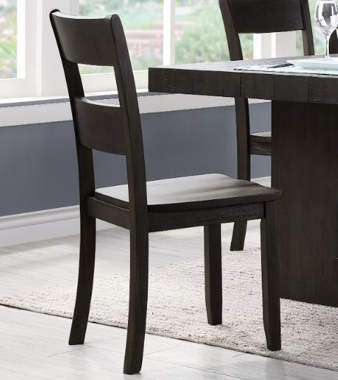 ACME Haddie Dining Chair Set of 2, with Backrest and Wood Legs, for Restaurant, Cafe, Tavern, Office, Living Room - Walnut