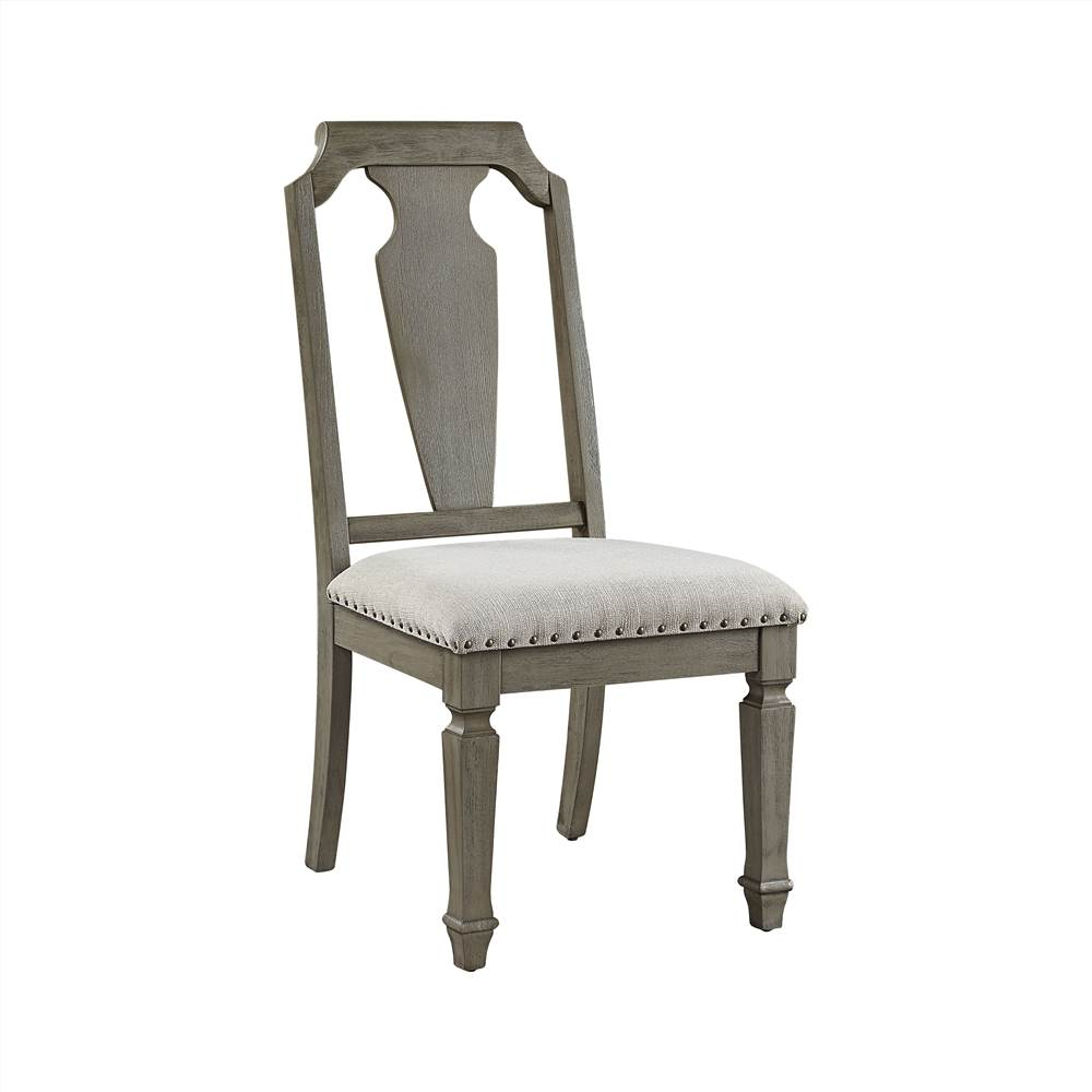 ACME Zumala Linen Upholstered Dining Chair Set of 2, with High Backrest, and Wood Legs, for Restaurant, Cafe, Tavern, Office, Living Room - Beige