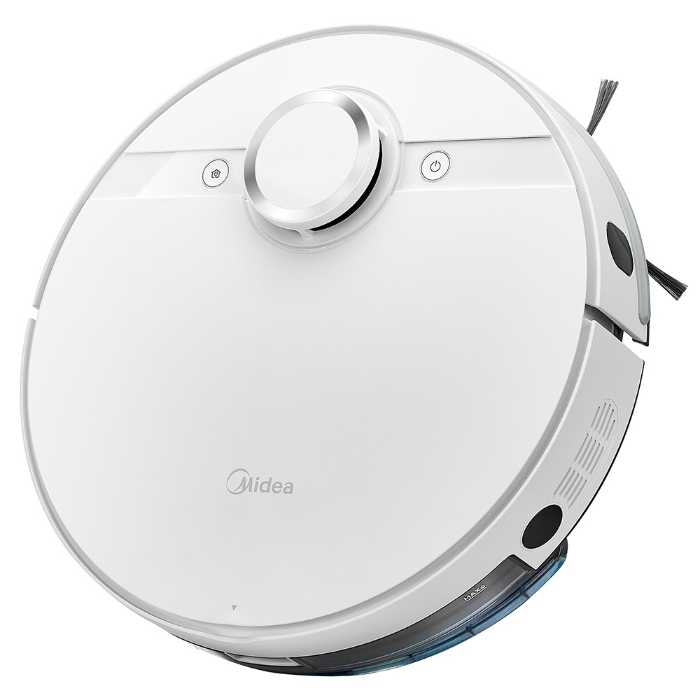 Midea M7 Robot Vacuum Cleaner 2 in 1 Sweeping and Mopping 4000Pa Cyclone Suction LDS Smart Navigation Electronic Water Tank 450ml Dust Box APP Control - White