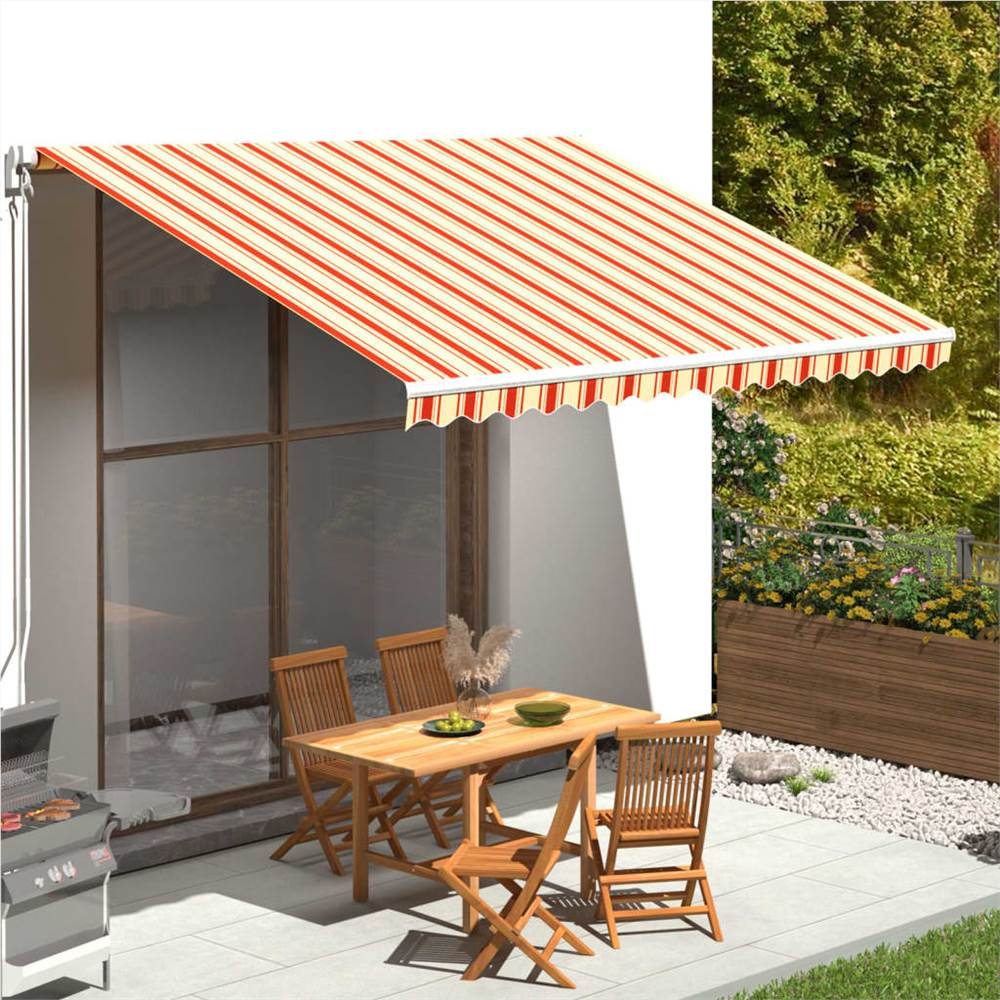 Replacement Fabric for Awning Yellow and Orange 4x3.5 m
