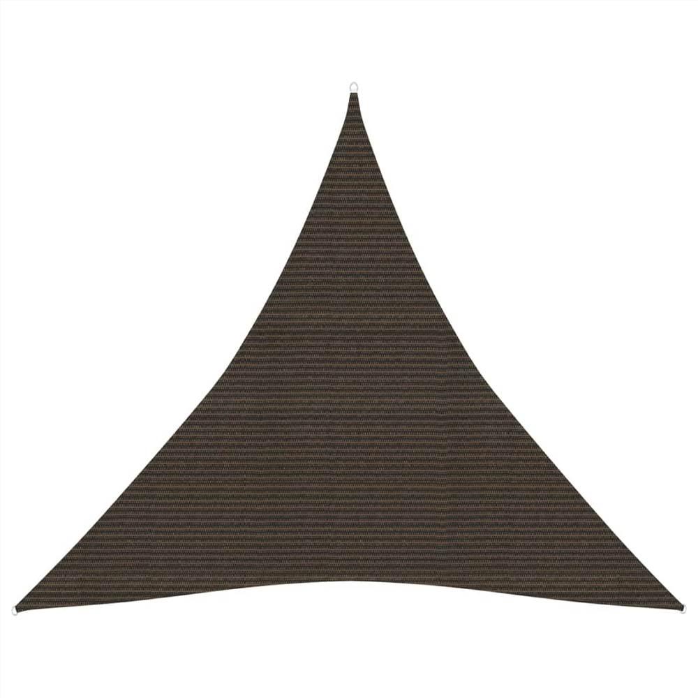Sunshade Sail 160 g/m² Brown 3x3x3 m HDPE