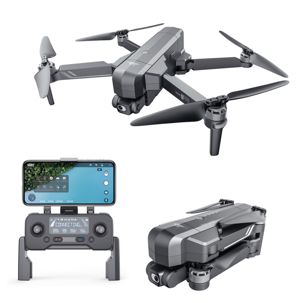 SJRC F11S 4K Pro GPS 5G WIFI 3KM FPV Brushless RC Drone with 2-Axis Electronic Stabilization Gimbal - Two Batteries with Bag