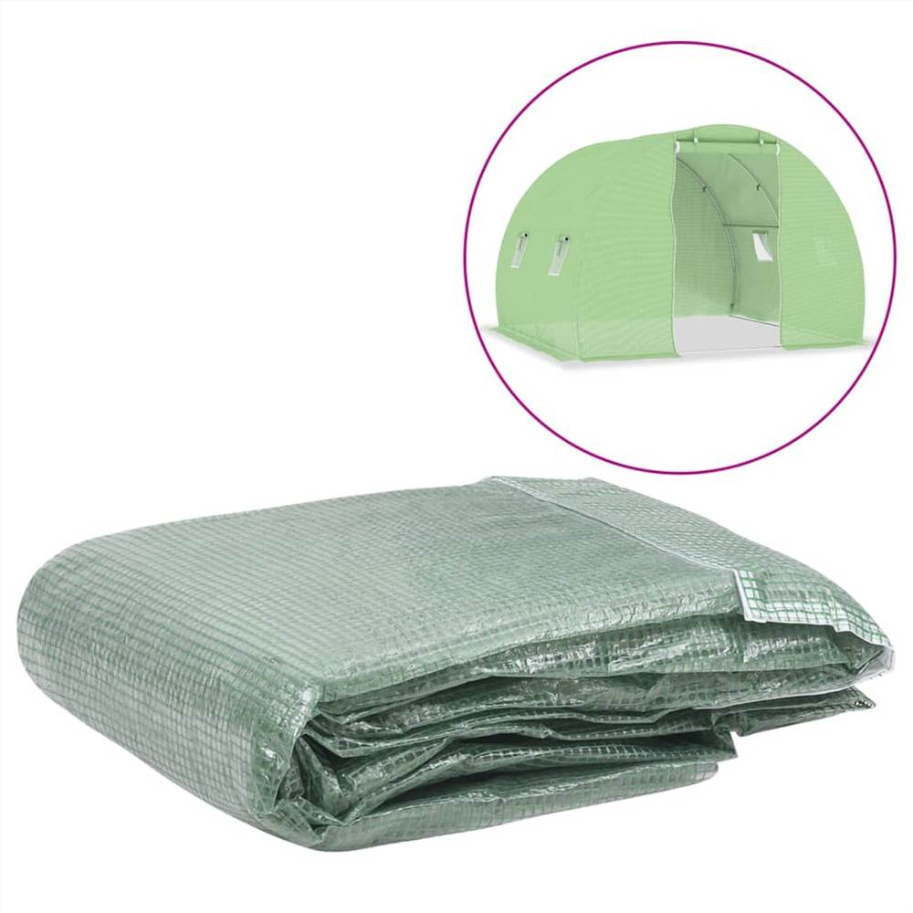 Greenhouse Replacement Cover (6 m²) 200x300x200 cm Green