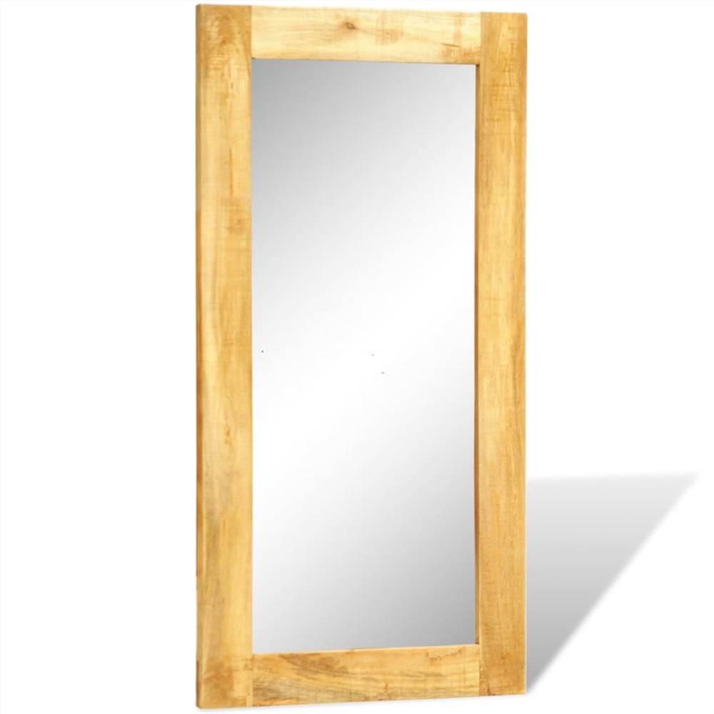 Wandspiegel met massief houten frame 120 x 60 cm