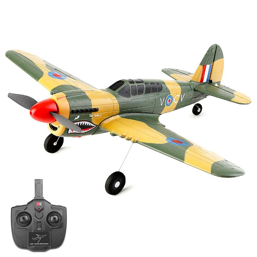 XK A220 P40 2.4G 4CH 384mm Spannweite 3D/6G Modus umschaltbarer 6-Achsen-Gyro RC Flugzeug RTF