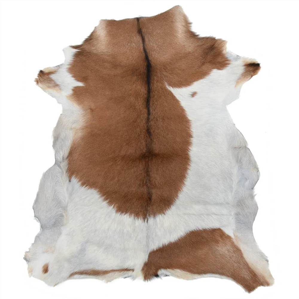 Goatskin Mixed Brown and White 60x100 cm