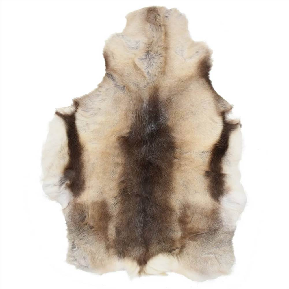 Reindeer Skin Mixed Grey 80x130 cm
