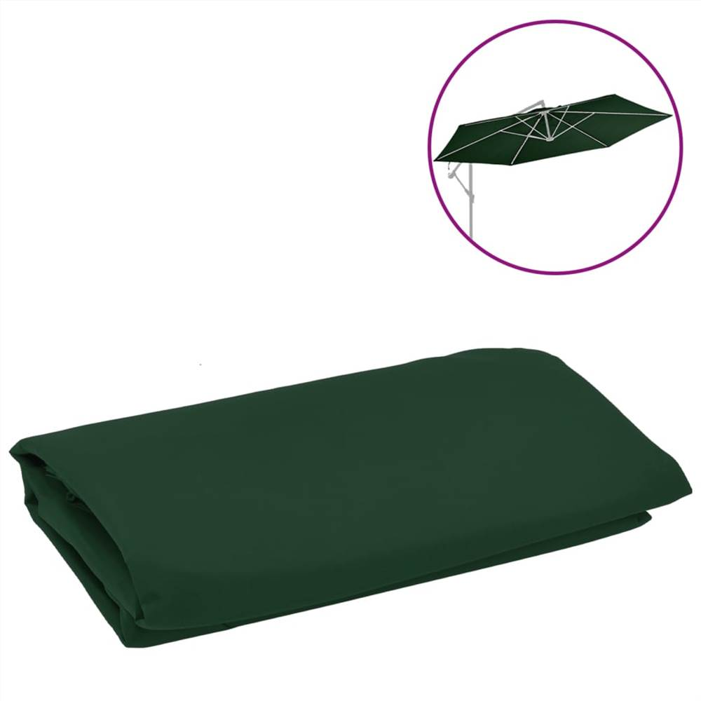Replacement Fabric for Cantilever Umbrella Green 350 cm