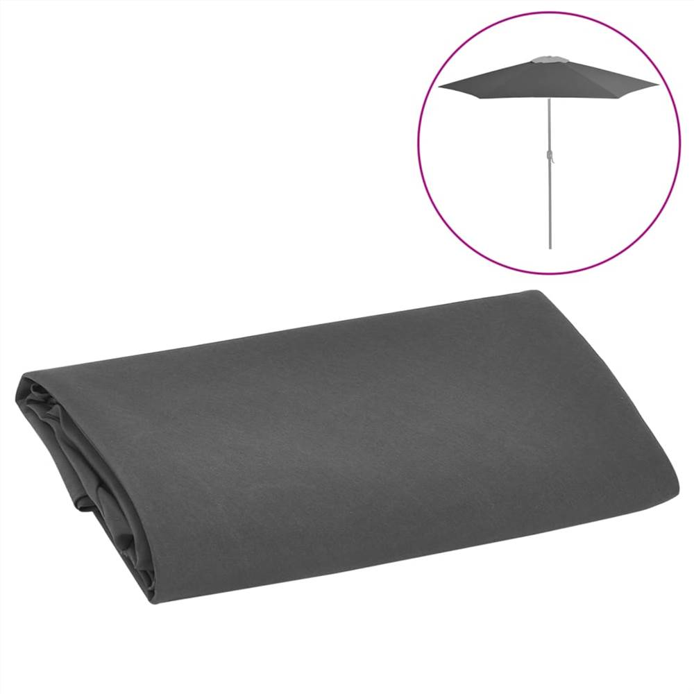 Replacement Fabric for Outdoor Parasol Anthracite 300 cm