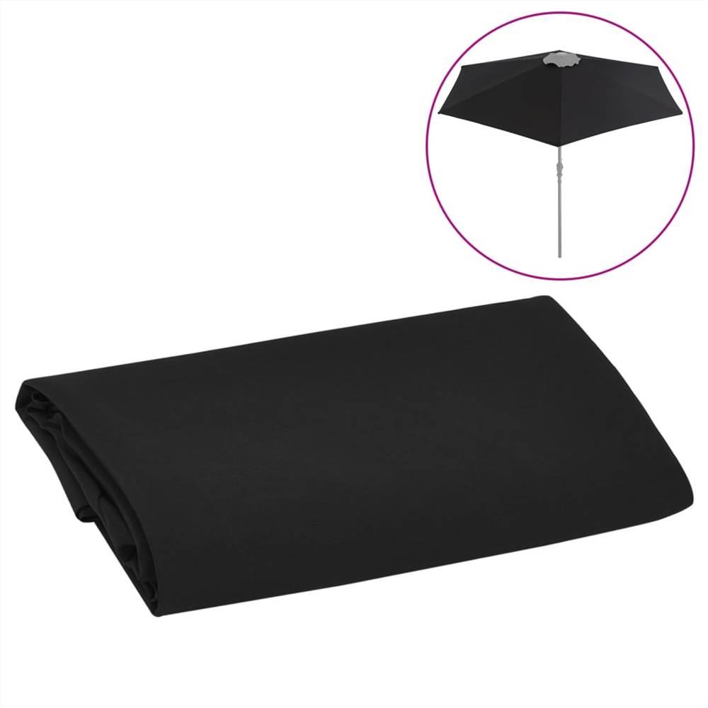 Ersatzstoff für Outdoor Sonnenschirm Schwarz 300 cm