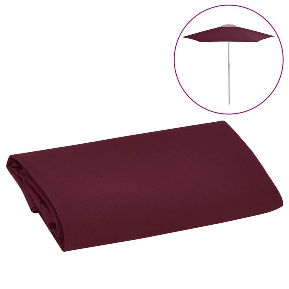 Ersatzstoff für Outdoor Sonnenschirm Bordeaux Rot 300 cm