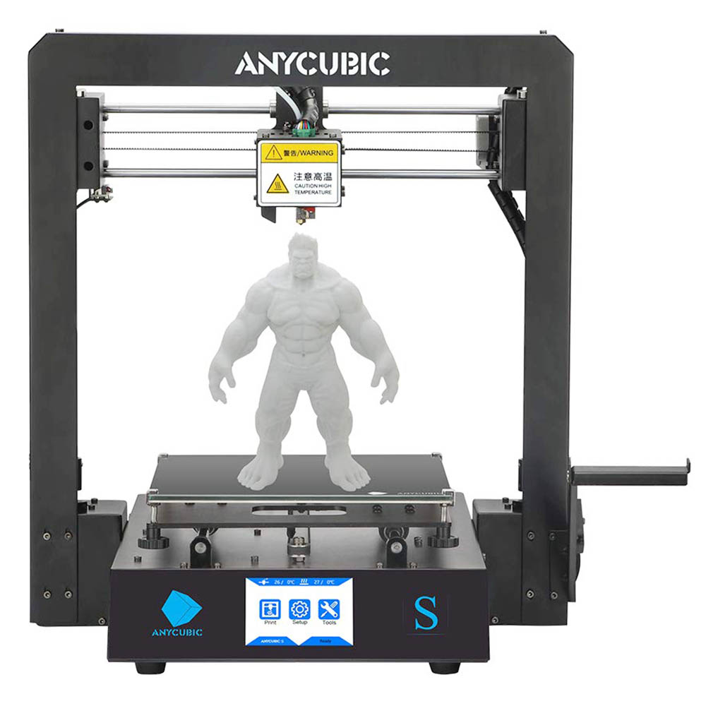 Anycubic Mega S 3D Printer 210x210x201mm with High-Quality Extruder Stable Full Metal Frame and Ultrabase Heat