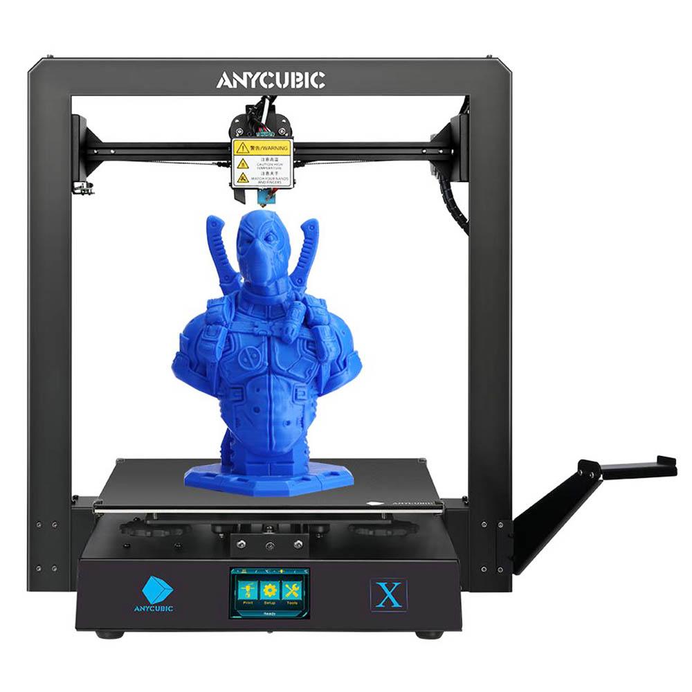 Anycubic Mega X FDM 3D Printer 300x300x305mm Build Size with Dual Z Axis Filament Detect Ultrabase Platform