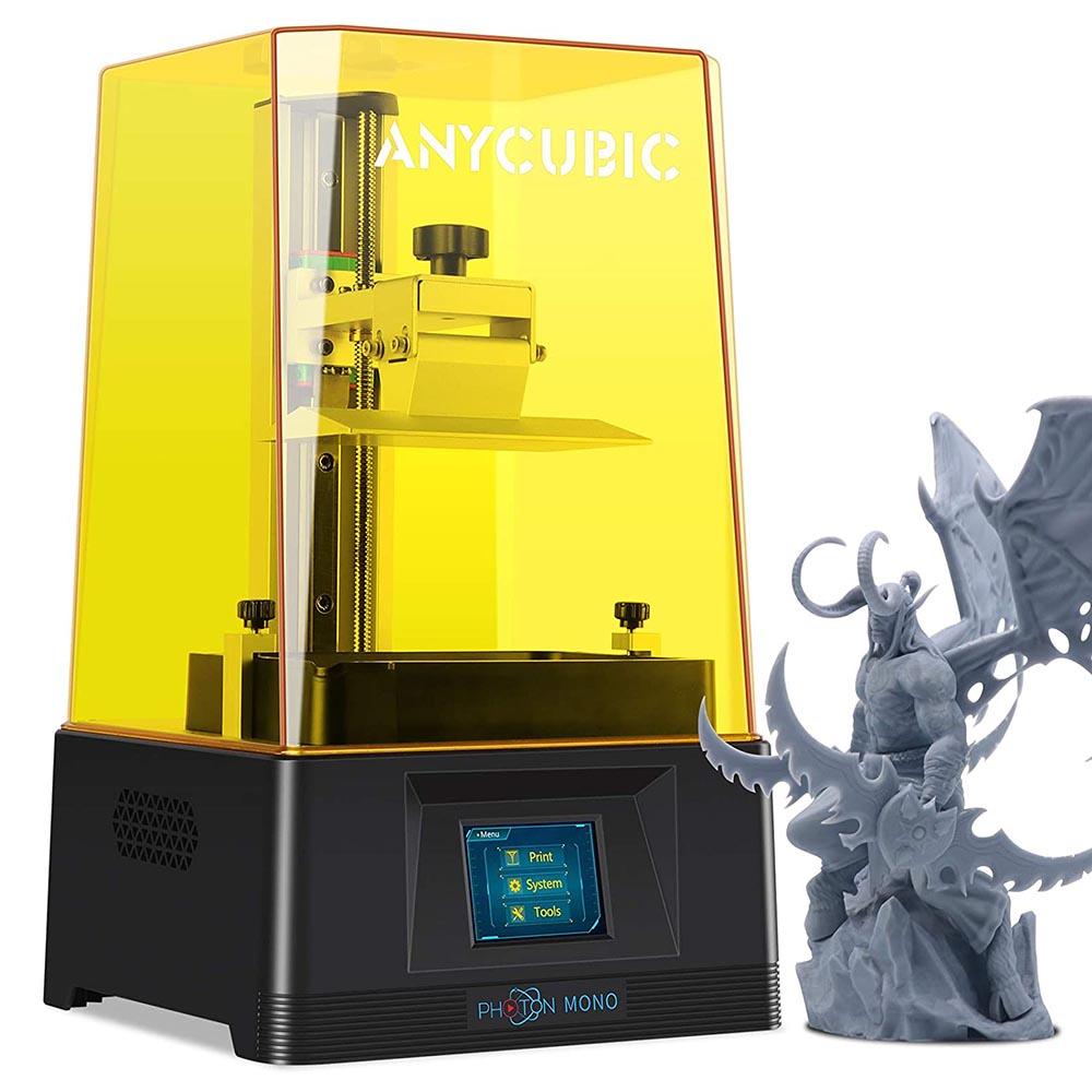 Anycubic Photon Mono 3D Printer 130x80x165mm Build Volume Fast Printing UV Photocuring Resin 2K Monochrome LCD Screen