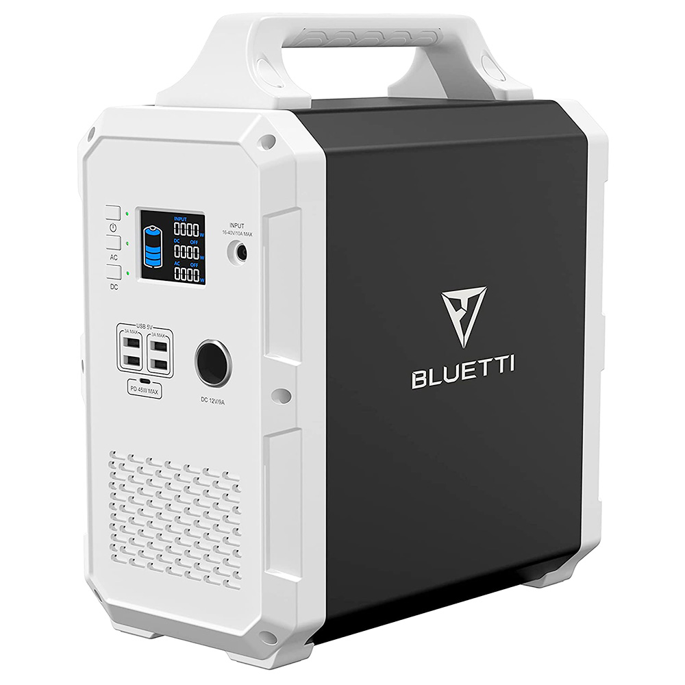 BLUETTI EB120 Portable Power Station 1200Wh/1000W Solar Generator Backup Battery with 2x110V Pure Sine Wave AC Outlets