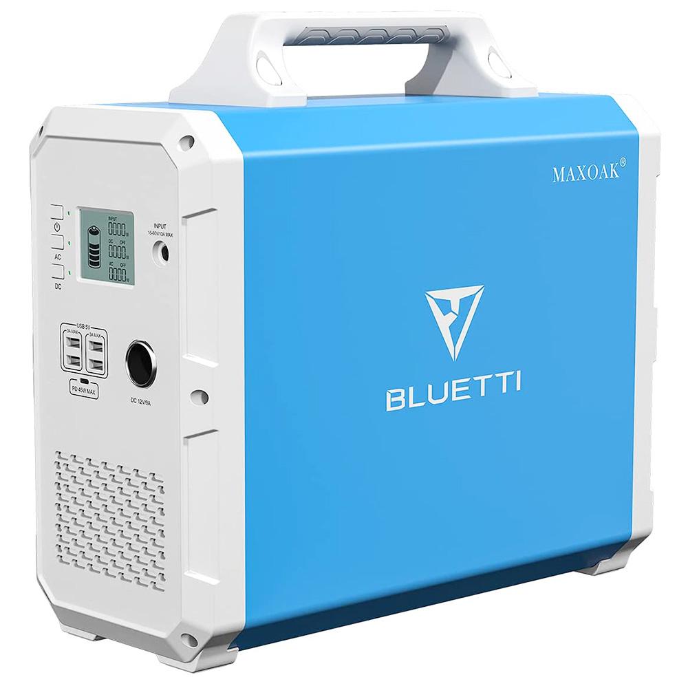 BLUETTI EB150 Portable Power Station 1500Wh AC110V/1000W Camping Solar Generator Lithium Emergency Battery Backup -  Blue