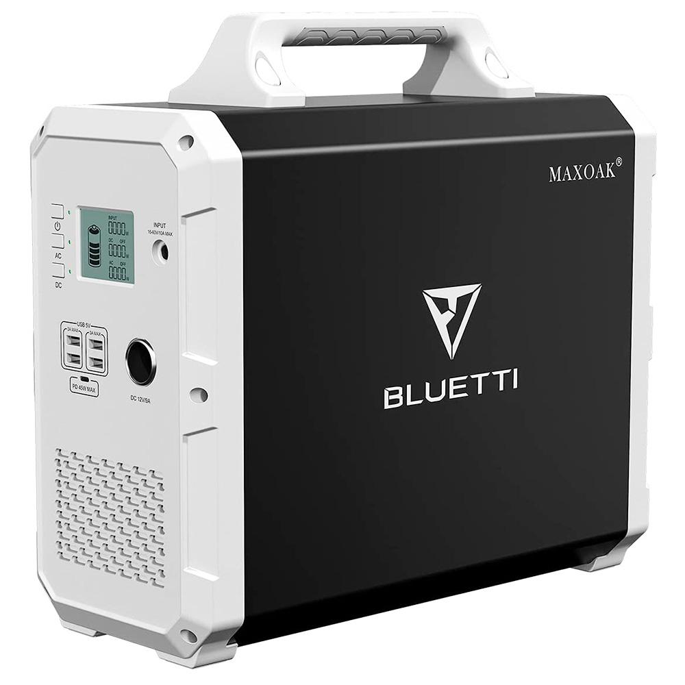 BLUETTI EB150 Portable Power Station 1500Wh AC110V/1000W Camping Solar Generator Lithium Emergency Battery Backup -  Black