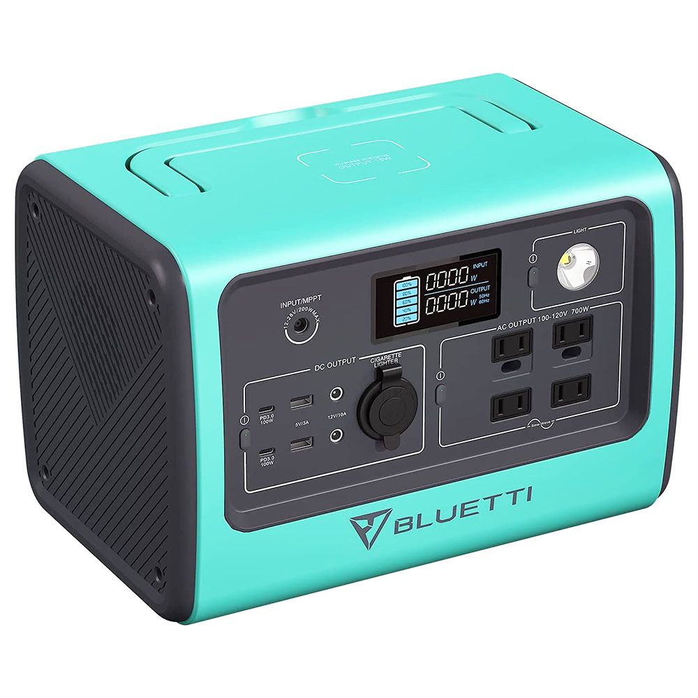 BLUETTI EB70 Portable Power Station 716Wh Solar Generator LiFePO4 Battery Backup 700W Inverter with 2x100W Type-C PD