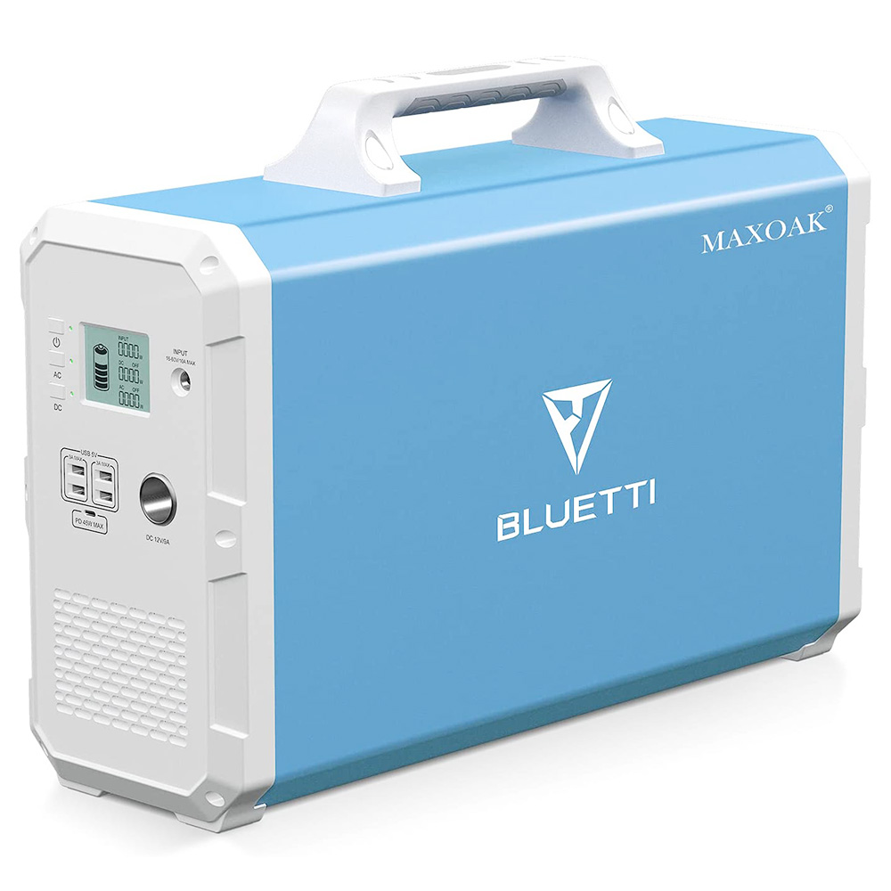 BLUETTI EB240 Portable Power Station 2400 Wh Lithium Battery Solar Generator with 1000 W Inverter AC/DC/USB Socket Mobile Power Supply Power Generator for Travel Camping Caravan