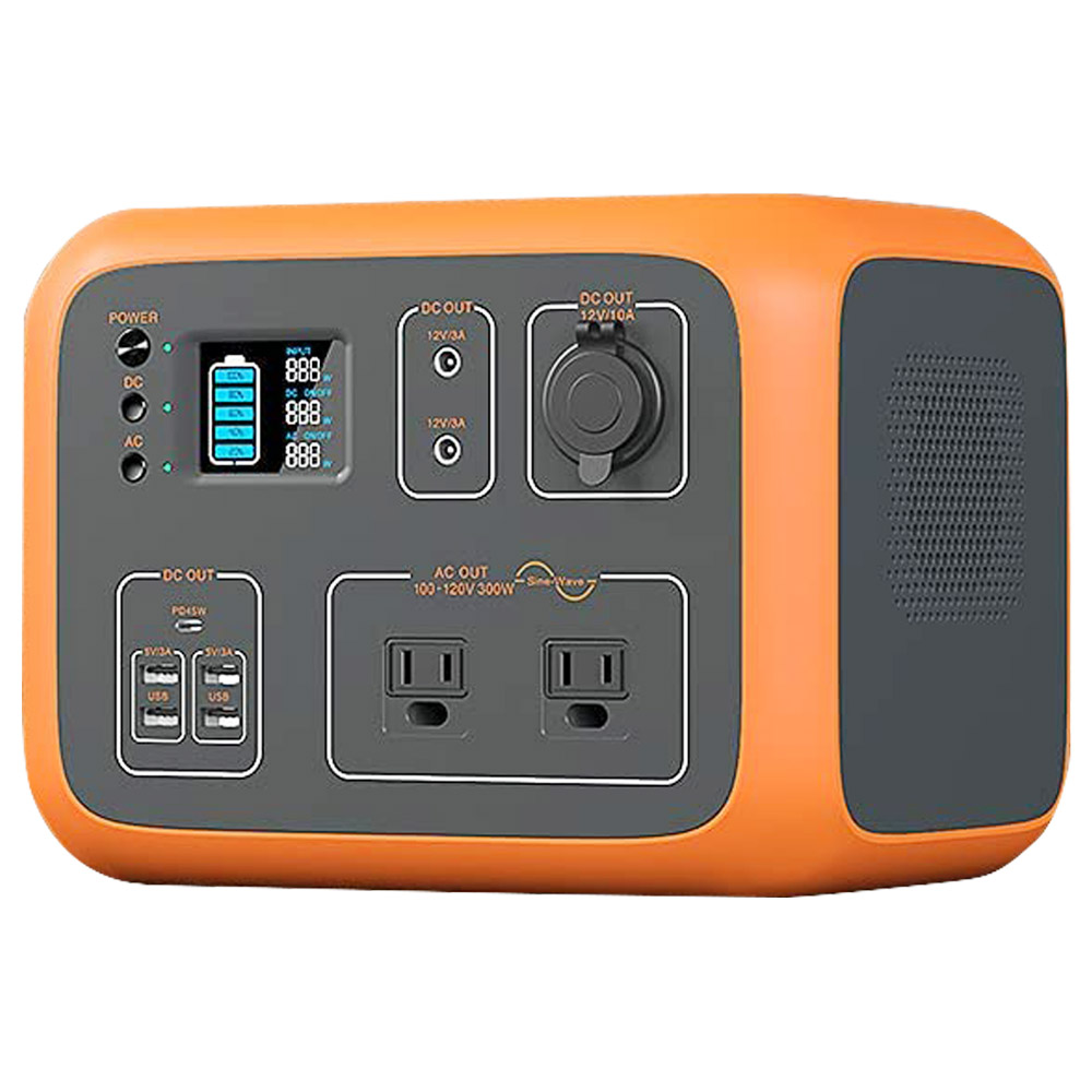 BLUETTI AC50S Power Station 500Wh/300W Solar Generator Wireless Charging Battery Backup for Outdoor Tailgating Camping - Orange