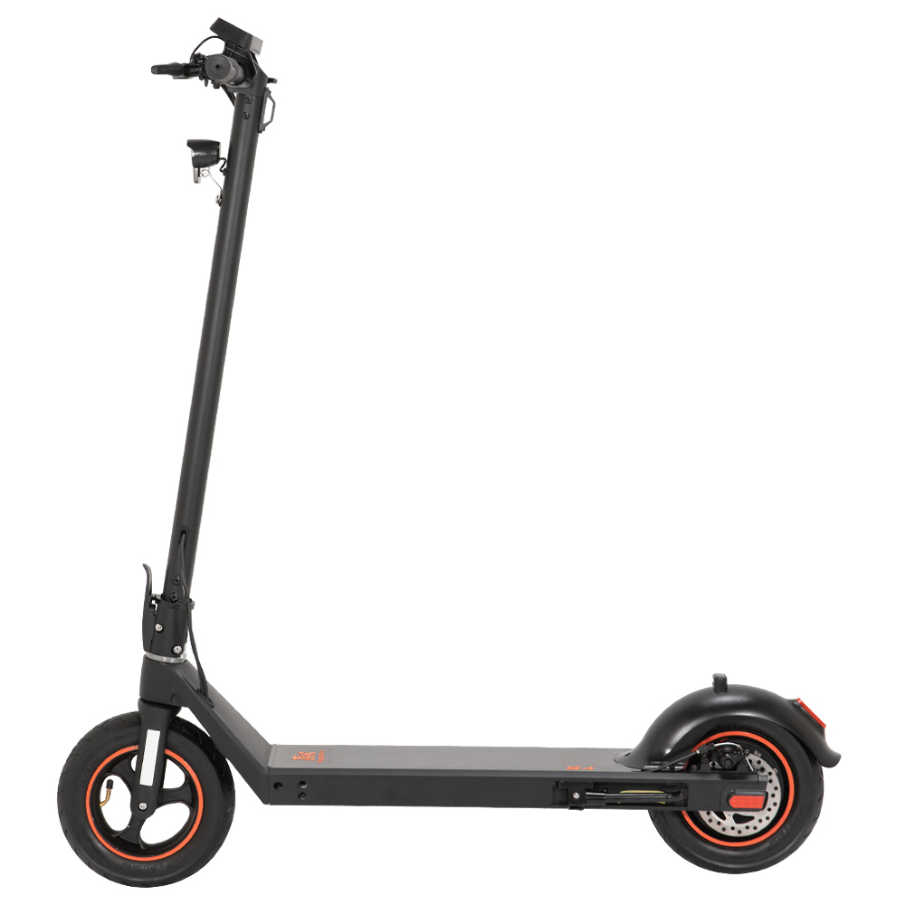 KugooKirin S4 10 inch Pneumatic Tire Folding Electric Scooter Big Touch Dashboard 10Ah Battery 350W Motor 3 Speed Modes Max 35km/h 40KM Max Range EABS+Rear Disc Brake Easily Folded - Black