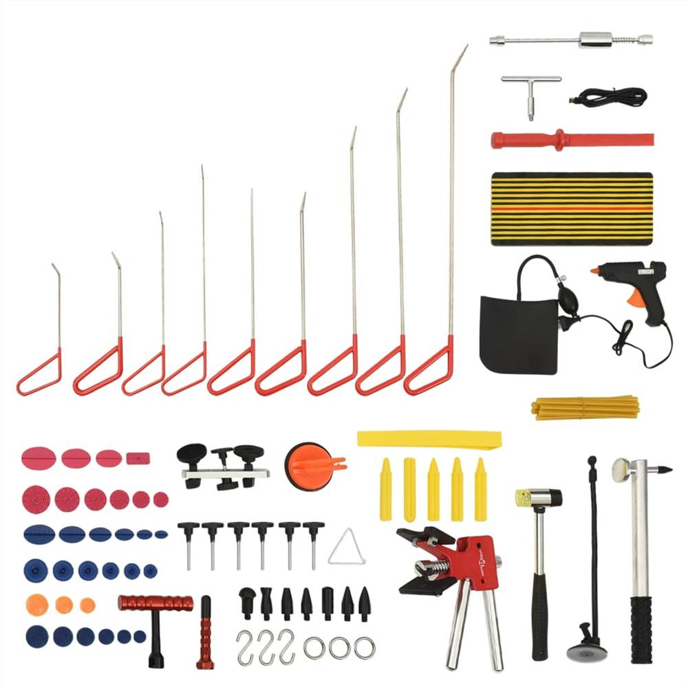 76 Piece Paintless Car Dent Repair Tool Set