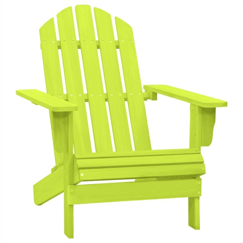 Garden Adirondack Chair Solid Fir Wood Green